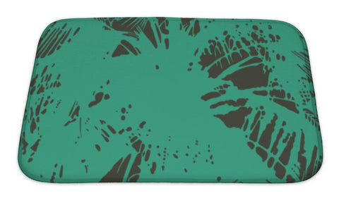 Bath Mat, Pattern From The Leaves Of Tropical Trees And Palms - the-american-pandaa