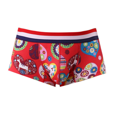Men Polyester Solid Underwear Male Sexy Hot Cotton Breathable Boxer Shorts - the-american-pandaa