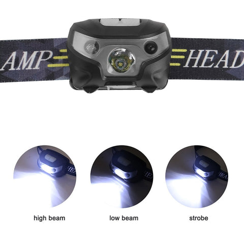 Mini Rechargeable Flashlight with LED Body Sensor Headlamp - the-american-pandaa