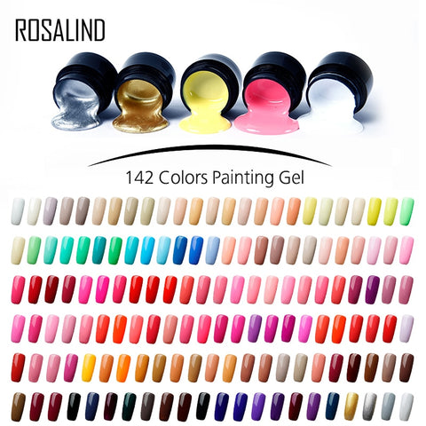 Base Coat Hybird Design ROSALIND 5ML Painting Nail Polish Set For Manicure - the-american-pandaa