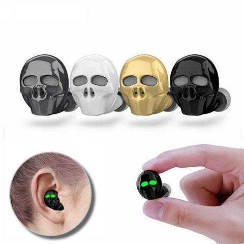 Micro Skull Bone Bluetooth Earbuds with Microphone Noise Cancelling Bass Stereo