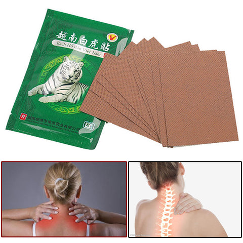 White Tiger Medical Plasters Balm For Joint Pain & Neck Pain Relieving Patches - the-american-pandaa