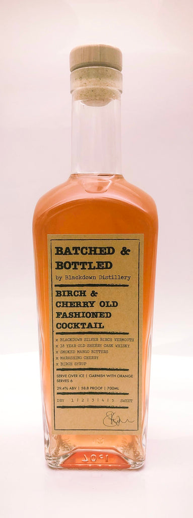 Batched & Bottled Birch & Cherry Old Fashioned Cocktail