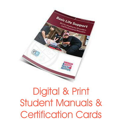 ASHI BLS for Healthcare Certification Cards & Student Handbooks (G2015 Version)