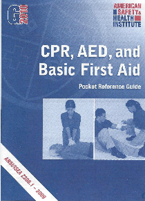 ASHI CPR/AED & Basic First Aid Pocket Guide (G2015 version)