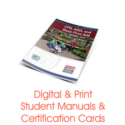ASHI CPR/AED & Basic First Aid Certification Cards & Student Handbooks (G2015 Version)