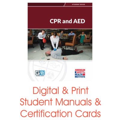ASHI CPR/AED Certification Cards & Student Handbooks (G2015 Version)
