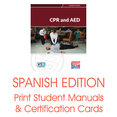 ASHI CPR/AED Printed Certification Cards & Student Handbooks - Spanish Materials (2015 Version)