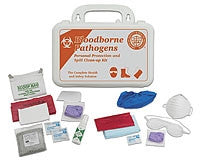 ASHI Bloodborne Pathogen Personal Protective Kit  & Spill Clean-up Kit