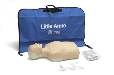Used Laerdal Little Annie - adult manikin with zippered manikin bag