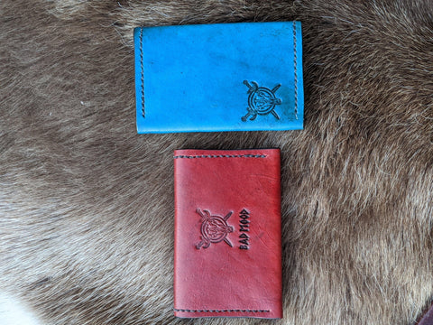BML Lined Snap Card Wallets - Bad Mood Leather Studio