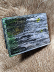 Shades of Gray #1 - Slim Bifold Wallet - Bad Mood Leather Studio