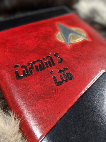 Captains Log: Hand Tooled Leather Journal