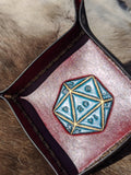 D20 Dice/Valet Tray - Bad Mood Leather Studio