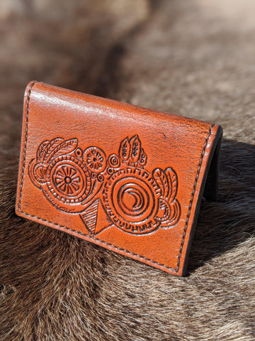 Steampunk Owl Credit Card Wallet