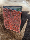 Hand Tooled Textured Card Wallet