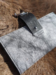 Shades of Gray: Leather Swing Clasp Wallet