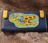 Dragon Skull Long Wallet
