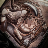 Custom Made to Order Messenger Art Bag - Choice of Art and Color Options - One of a Kind - Bad Mood Leather Studio
