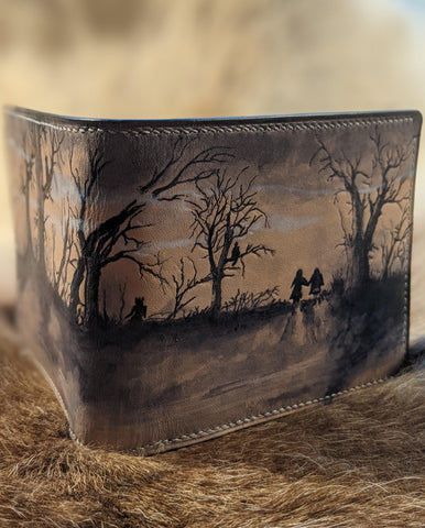 The Trees Have Eyes: Horror Themed Leather Bi-Fold Wallet