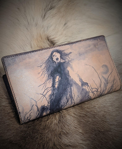 Scream: Horror Themed Leather Long Wallet - Bad Mood Leather Studio