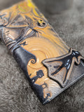 Nightmare Before Christmas Inspired Leather Long Wallet - Bad Mood Leather Studio