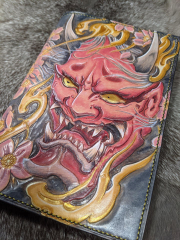 One of a Kind Oni Field Notes Journal - Bad Mood Leather Studio