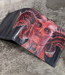 All Hail the Queen: Hand Painted Lilith Bi-fold - Bad Mood Leather Studio