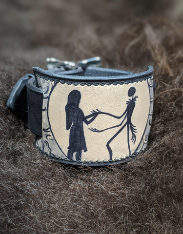 Nightmare Before Christmas Inspired Leather Cuff