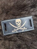 Jolly Roger: Hand Dyed Interchangeable Leather Cuff - Bad Mood Leather Studio
