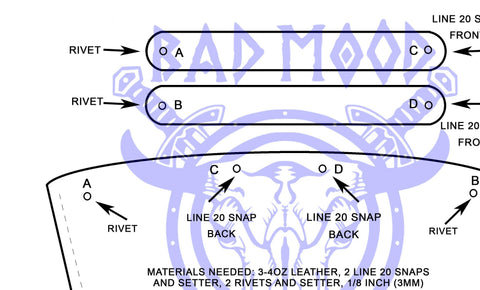 Downloadable Glass Flask Sleeve Pattern - Bad Mood Leather Studio
