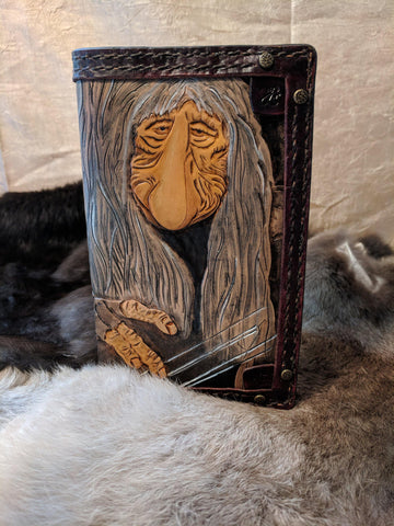 One of a Kind Dark Crystal Inspired Hand Tooled Leather Journal: The Mystics