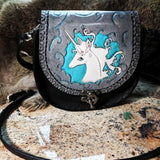 The Last Unicorn Inspired Hand Tooled Leather Bag