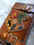 Harry Potter Inspired Hand Tooled Refillable Leather Journal - 6x8