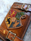 Harry Potter Inspired Hand Tooled Refillable Leather Journal - 6x8 - Bad Mood Leather Studio