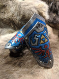 Hand Tooled Leather Hyrule Shield Bracers - Bad Mood Leather Studio