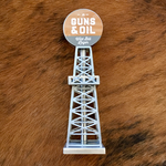 Guns & Oil Wild Bill Oil Derrick Tap Handle