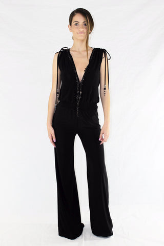 Stretch open back jumpsuit ( Last Piece)