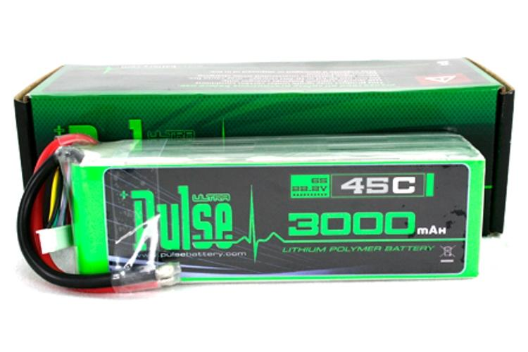 PULSE 3000mAh 6S 22.2V 45C - LiPo Battery
