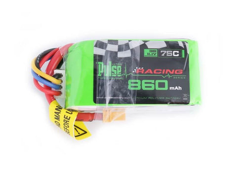 PULSE 860mAh 3S 11.1V 75C - FPV Racing series - LiPo Battery
