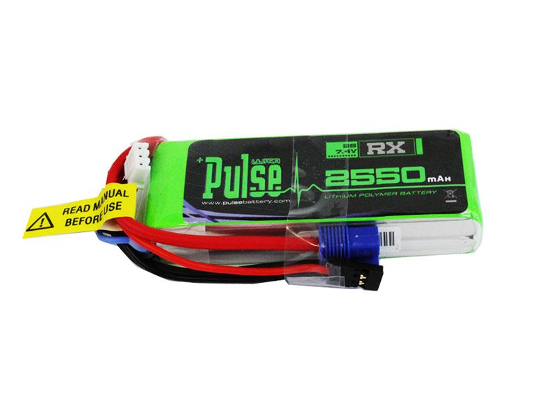 PULSE 2550mAh 2S 7.4V 15C - Receiver Battery - LiPo Battery