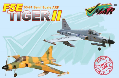 "VMAR F5E Tiger Nitro Jet Prop ARF Kit - Tan / Green (56"" Wingspan)"