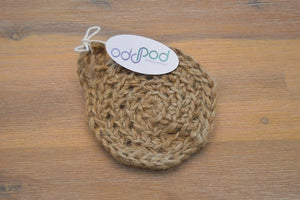 Biodegradable Jute scrubs for washing dishes. The jute scrub for exfoliating body.