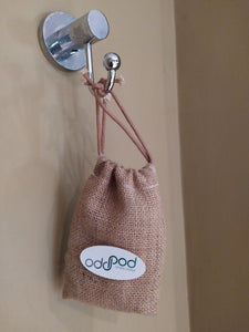 Soap Saver Bag with Drawstring - Hessian | Cotton