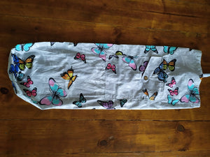 Odd Pod Yoga Mat Bags, made from 100% cotton in fun designs suitable for children Yoga mats, with space for extra.