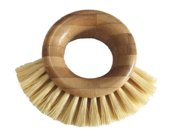 The Bamboo Ring Scrubbing Brush has a comfortable thumb placement handle that is made from FSC approved Bamboo that is naturally anti-microbial. The bristles are made from high quality sisal that is naturally strong and durable.