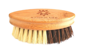 The palm-sized handle Scrubbing brush is made from FSC approved Bamboo that is naturally anti-microbial, and the bristles are made from high quality sisal and palm fibres that are naturally strong and durable.