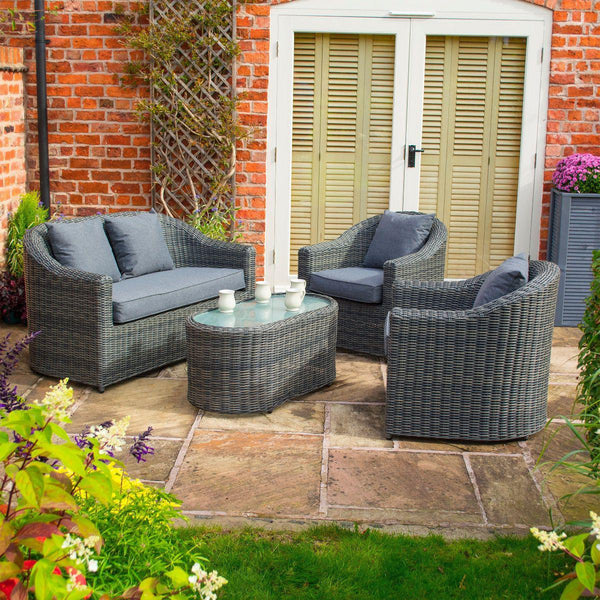 Bunbury Sofa Set - Grey Weave