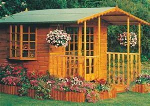 Goodwood Gold Fleur De Lys (8' x 7') Summerhouse