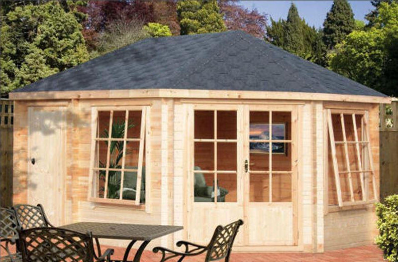 Leygrove & Rowney Log Cabin 10G x 14 (2960G x 4340mm) in 28mm Logs